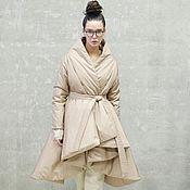 Одежда handmade. Livemaster - original item Women`s insulated coat Beige Mirage. Handmade.