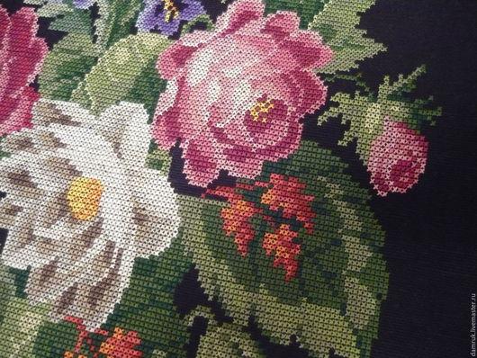 Текстиль, ковры ручной работы. Ярмарка Мастеров - ручная работа. Купить Викторианские розы. Ручная вышивка. Handmade. Подушка