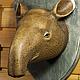 Интерьерные  маски ручной работы. Голова тапира на стену. 500 эскимо. Ярмарка Мастеров. Трофеи, головы животных на стену