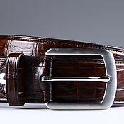 handmade. Livemaster - original item Crocodile leather belt IMA3304VK. Handmade.