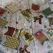 Подарки к праздникам handmade. Livemaster - original item Garland new year Christmas Joy. Decoupage garland. Handmade.