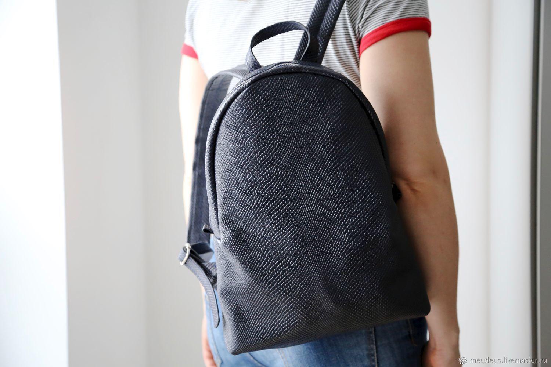 Backpacks handmade. Livemaster - handmade. Buy Backpack 'Rome'of genuine leather dark blue art. Four hundred sixty five.
