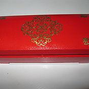 Для дома и интерьера ручной работы. Ярмарка Мастеров - ручная работа Шкатулка для выращивания денег  Королевский красный. Handmade.