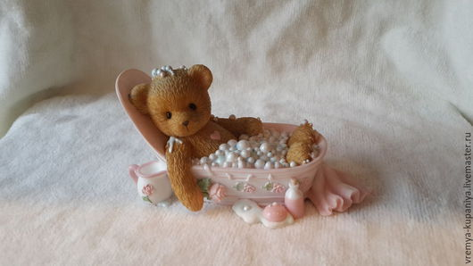 """Материалы для косметики ручной работы. Ярмарка Мастеров - ручная работа. Купить Силиконовая форма для мыла """"Мишка в ванне"""". Handmade."""