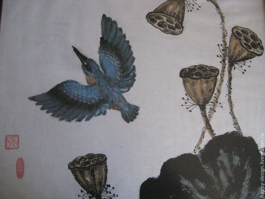 Животные ручной работы. Ярмарка Мастеров - ручная работа. Купить Синяя птица. Зимородок.. Handmade. Синий, подарок на день рождения