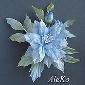 Украшения ручной работы. Ярмарка Мастеров - ручная работа Брошь Ameli blue. Handmade.