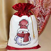 Мешочки для подарков ручной работы. Ярмарка Мастеров - ручная работа Новогодние подарочные мешочки. Handmade.