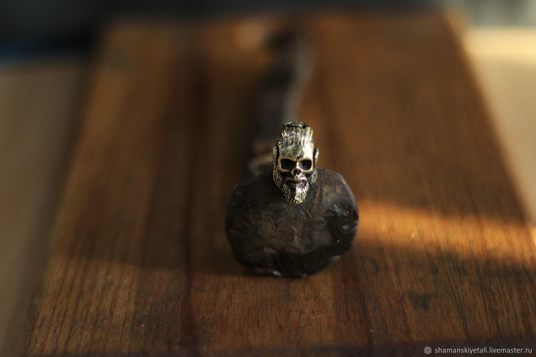 Bead for lanyard skull of Ragnar, Souvenir weapon, Volgograd,  Фото №1