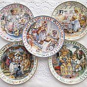 Винтаж handmade. Livemaster - original item Franklin Mint Royal Doulton.  Teddy Bear Bears Decorative plates. Handmade.
