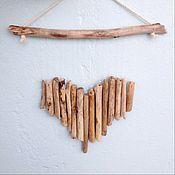 Подарки к праздникам handmade. Livemaster - original item Hanging driftwood heart. Handmade.