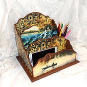 Для дома и интерьера handmade. Livemaster - original item Desktop shelf organizer Fishing happiness. Handmade.