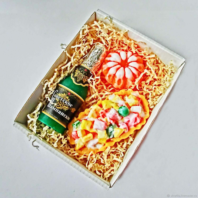 """Набор мыла """"Новогодний №2"""" Шампанское мандарин оливье, Мыло, Москва,  Фото №1"""