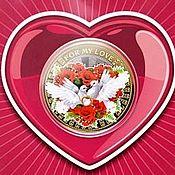 Сувенирные монеты ручной работы. Ярмарка Мастеров - ручная работа Монета 10  рублей  Для моей любви. Handmade.