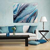 Картины и панно handmade. Livemaster - original item Ocean wave Interior painting. Handmade.