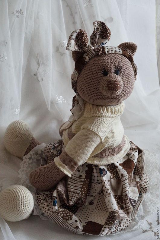 Игрушки животные, ручной работы. Ярмарка Мастеров - ручная работа. Купить Евдокия фон Медведеff, вязанная мишка из хлопка. Handmade.