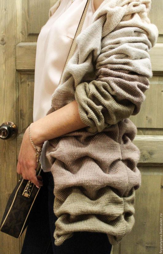Кофты и свитера ручной работы. Ярмарка Мастеров - ручная работа. Купить Кардиган вязаный с градиентом. Handmade. Комбинированный, градиент