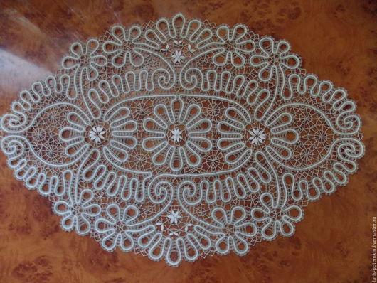 Текстиль, ковры ручной работы. Ярмарка Мастеров - ручная работа. Купить Кружевная салфетка. Handmade. Бежевый, кружево, кружево на коклюшках