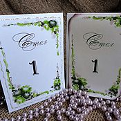 Свадебный салон handmade. Livemaster - original item Table numbers