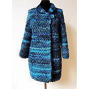 Одежда ручной работы. Ярмарка Мастеров - ручная работа Пальто вязаное - 02, бирюзово-изумрудный.. Handmade.