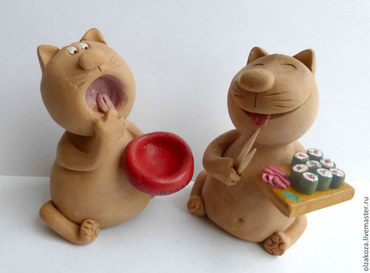 Куклы и игрушки ручной работы. Ярмарка Мастеров - ручная работа. Купить Накорми кота!. Handmade. Оранжевый, голод, акриловые краски