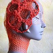 """Аксессуары ручной работы. Ярмарка Мастеров - ручная работа авторская шляпка цвета"""" красный апельсин """""""". Handmade."""