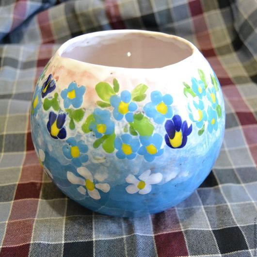 Вазы ручной работы. Ярмарка Мастеров - ручная работа. Купить ваза шарообразная. Handmade. Комбинированный, ваза, подарок, глина