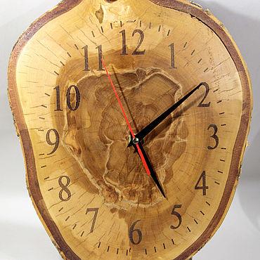 Для дома и интерьера ручной работы. Ярмарка Мастеров - ручная работа Часы: Настенные часы из поперечного спила берёзы. Handmade.