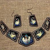 Украшения handmade. Livemaster - original item Kit lacquer jewelry painting