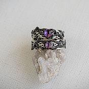 Украшения handmade. Livemaster - original item Wedding rings with amethysts