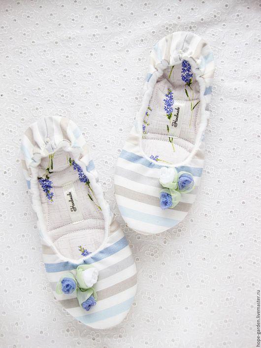 """Обувь ручной работы. Ярмарка Мастеров - ручная работа. Купить Тапочки """"Невесомость""""36,37,19 см,женские тапочки,балетки домашние. Handmade."""