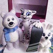 Куклы и игрушки ручной работы. Ярмарка Мастеров - ручная работа Олимпийская троица из Сочи 2014. Handmade.