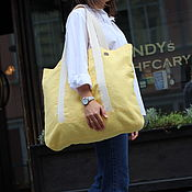 Сумка-шоппер ручной работы. Ярмарка Мастеров - ручная работа Большая льняная сумка. Handmade.