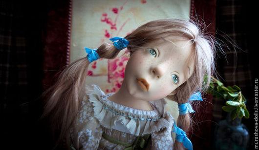 Коллекционные куклы ручной работы. Ярмарка Мастеров - ручная работа. Купить Молчунья с бантиками. Handmade. Бежевый, любить и жаловать
