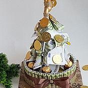 Букеты ручной работы. Ярмарка Мастеров - ручная работа Денежный кран с шоколадом. Символ богатства. Handmade.