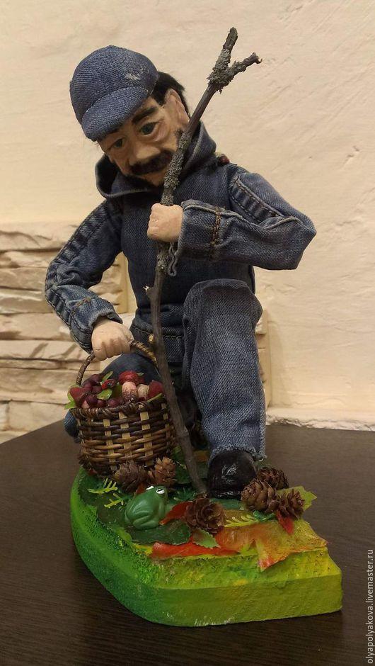 Коллекционные куклы ручной работы. Ярмарка Мастеров - ручная работа. Купить грибник. Handmade. Комбинированный, подарок, подарок на любой случай