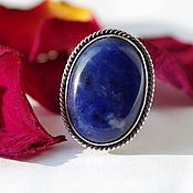 Украшения handmade. Livemaster - original item Ring sodalite