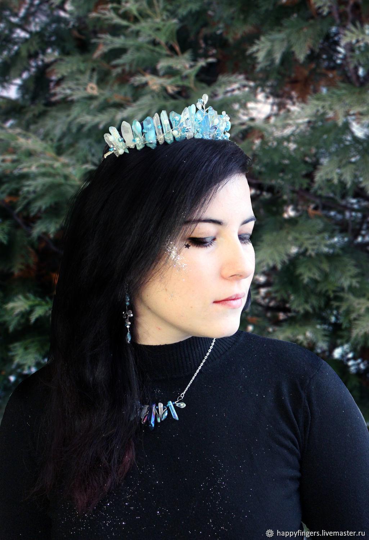 Crown Tiara hair band with crystals hair decoration, Headband, Elektrostal,  Фото №1
