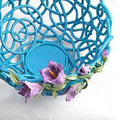 Посуда handmade. Livemaster - original item Fruit Bowl Bluebells. Handmade.