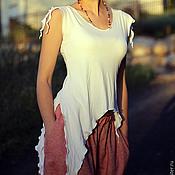 """Одежда ручной работы. Ярмарка Мастеров - ручная работа Топ """"Лесная фея"""" трикотажный белый. Handmade."""