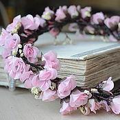 """Украшения ручной работы. Ярмарка Мастеров - ручная работа Венок на голову """"Pink Flowers"""". Handmade."""