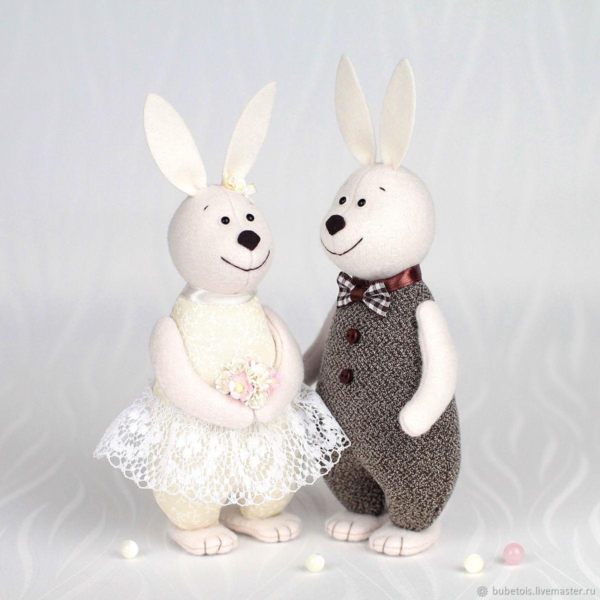 Свадебные Зайцы, кролики подарок на свадьбу, Подарки, Москва,  Фото №1