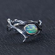 Украшения handmade. Livemaster - original item Ring of twigs with opal. Handmade.