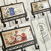 Для дома и интерьера ручной работы. Ярмарка Мастеров - ручная работа Крючки металлические с керамикой Лето в Провансе. Handmade.