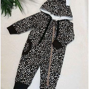 """Товары для малышей ручной работы. Ярмарка Мастеров - ручная работа Комбинезон - """"Леопард """". Handmade."""