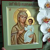 Картины и панно handmade. Livemaster - original item The deliverer from troubles.Icon Of The Mother Of God. Handmade.