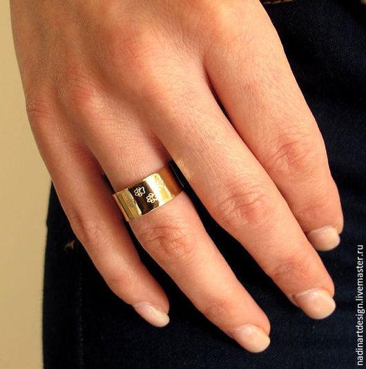 Кольцо с гравировкой