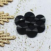 Материалы для творчества handmade. Livemaster - original item Glass rhinestones 12 mm Rivoli Charcoal. Handmade.