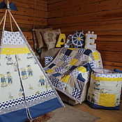 "Для дома и интерьера handmade. Livemaster - original item Copy of Wigwam for children ""Тhree sisters"". Handmade."