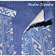 Льняная сорочка с ручной вышивкой Синий лен. Модная одежда с ручной вышивкой. Творческое ателье Modne-Narodne.