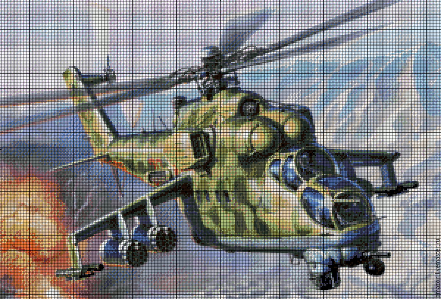 "Set for beadwork ""VERTOL MI-24"", Creator\'s Kit, Ufa,  Фото №1"